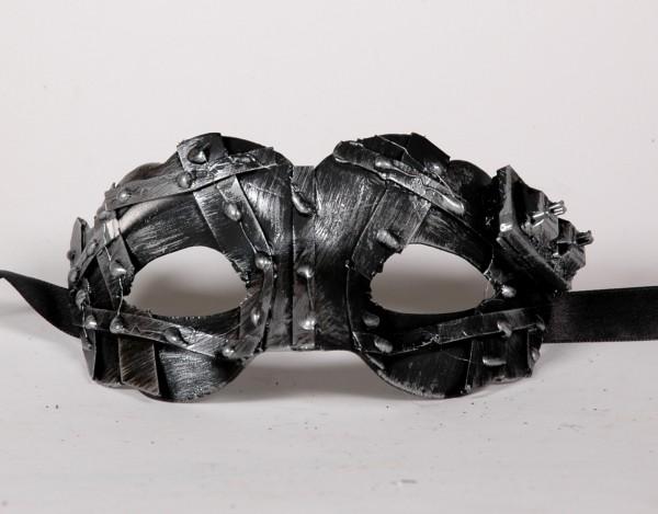 Veneziansiche Steampunk Maske silber klein