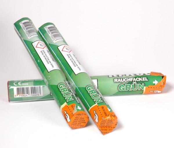 Rauchfackel grün mit Zündschnur 1 Minute