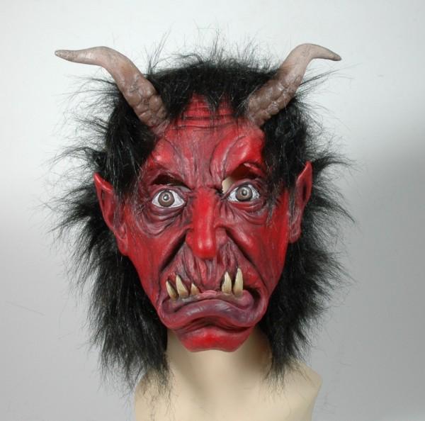 Krampus Maske für Kinder aus Gummi
