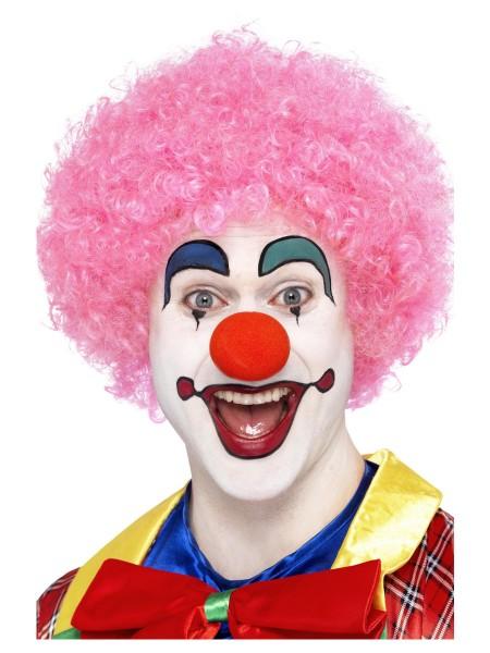 Clown Perücke Locken pink