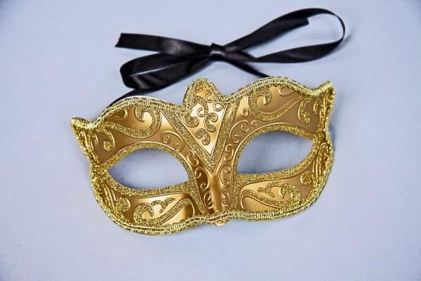Augenmaske gold venezianisches Motiv