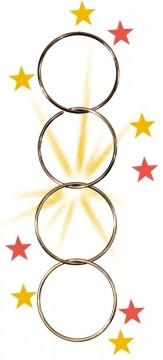 Zaubertrick Chinesisches Ringspiel mit 4 Ringen