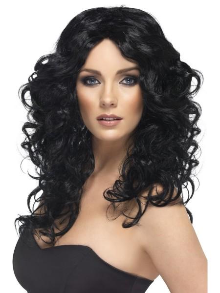 Glamour Girl Perücke schwarz