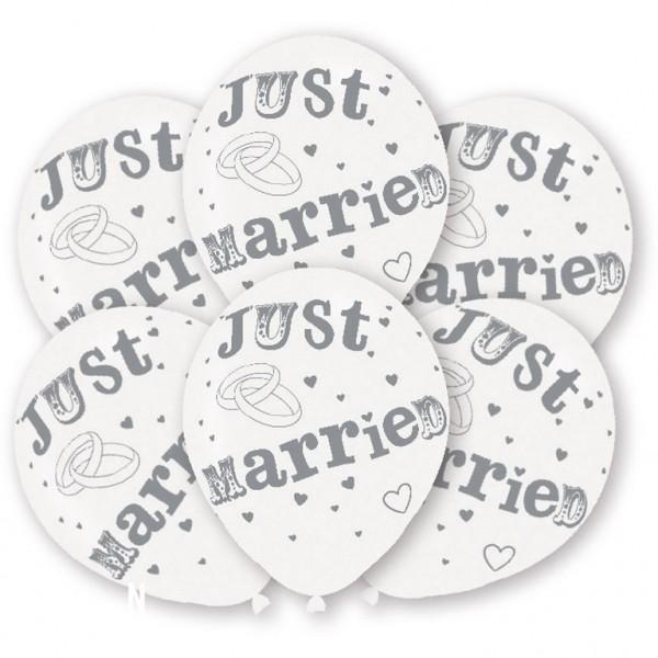 6 Stück Just Married Luftallons