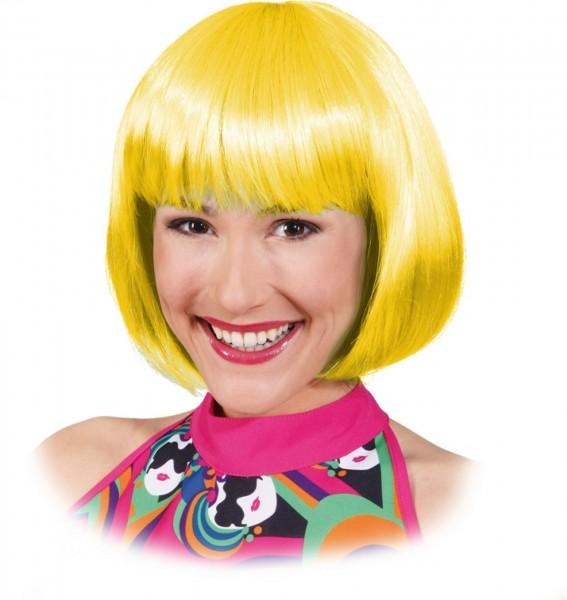 Gelbe Pagenkopf Perücke Sexy Lola