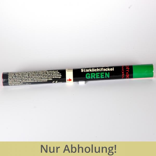 Magnesiumfackel grün mit Zündschnur 1 Minute