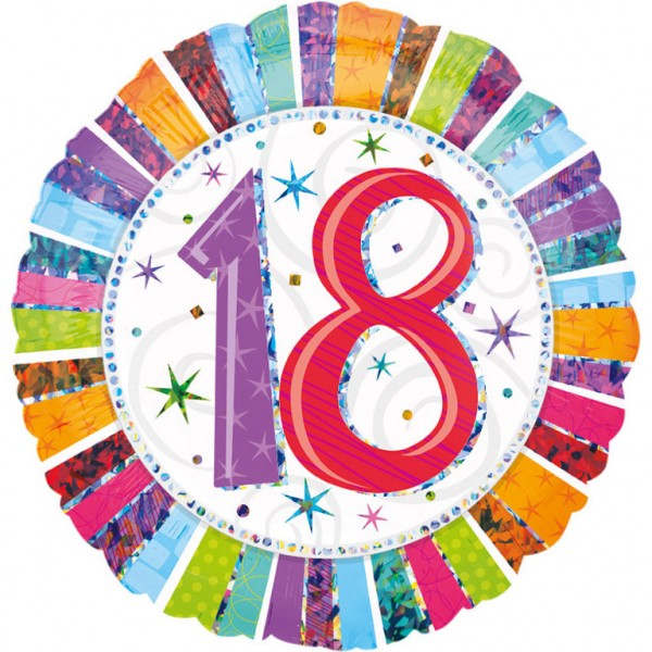 Bunter Geburtstagsballon zum 18er