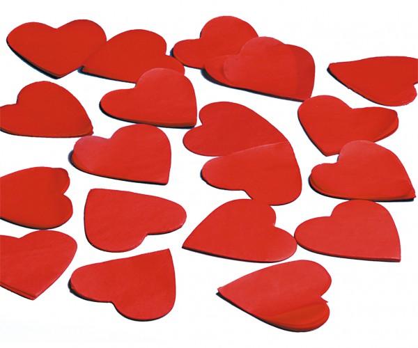 Konfetti Papier Herzen rot 5cm