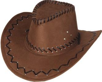 Cowboy Hut braun Lederoptik