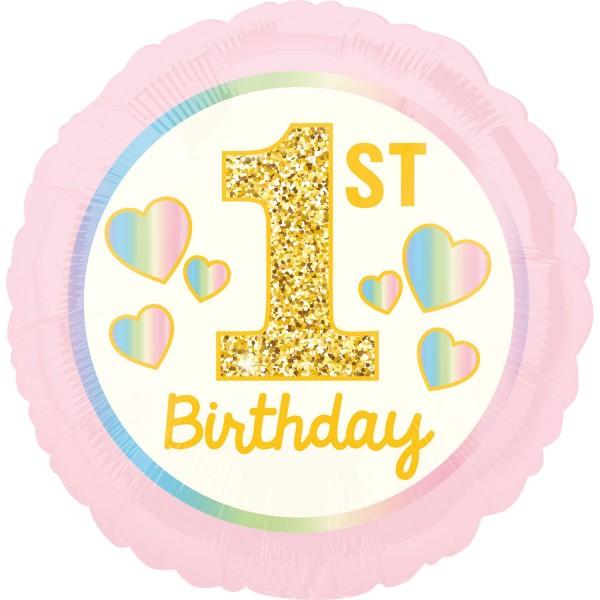 Luftballon zum 1.Geburtstag pink