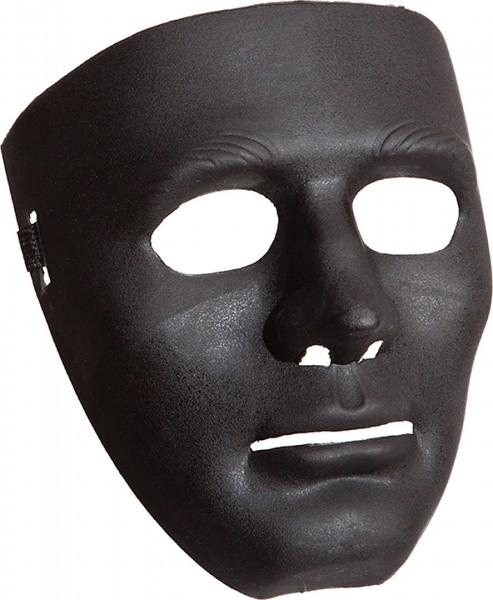 Maske ganzes Gesicht schwarz