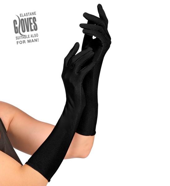 Schwarze Handschuhe ca.37cm