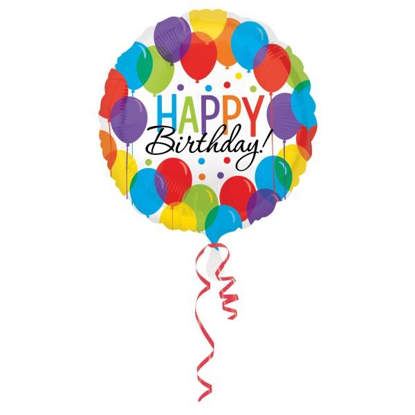 Happy Birthday Luftballon mit bunte Ballon Motiv