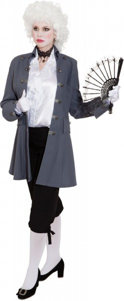 Rokoko Jacke de Luxe für Damen grau Gr. 36