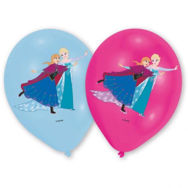 6 Stück Luftballons Anna & Elsa Motiv