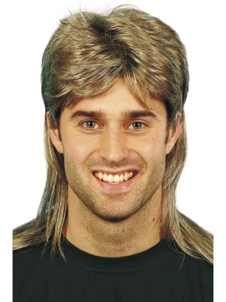 Herren Perücke blond-braun 80er Jahre Style