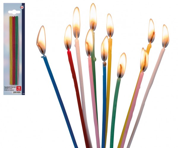 Spaghetti-Kerzen 20cm 18 Stück Packung
