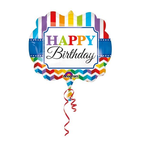 Großer Happy Birthday Luftballon