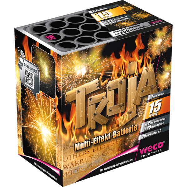 Feuerwerk Batterie Troja 15 Schuß