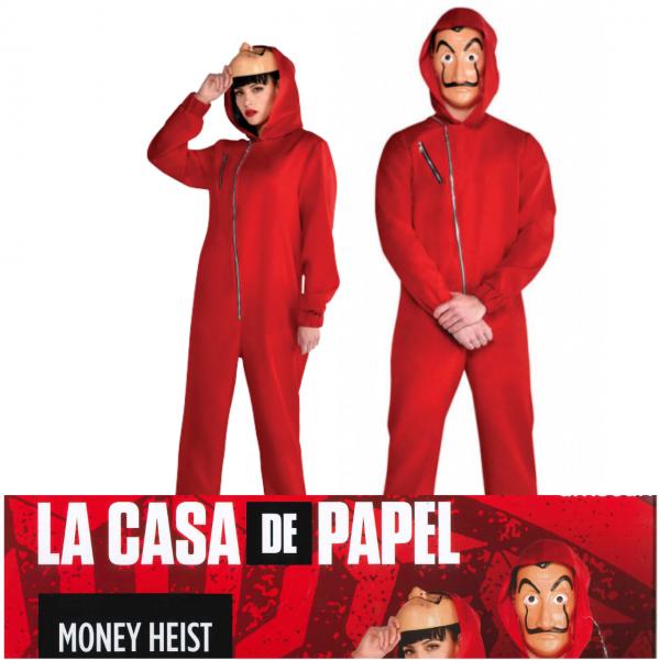 Haus des Geldes Overall L mit Dali Maske