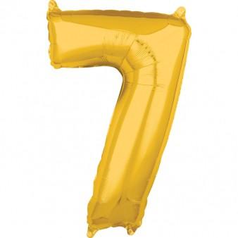 "Zahlen Luftballon ""7"" gold ca. 66x 43cm"