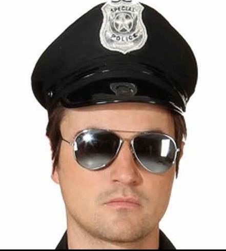 amerikanische Polizeimütze schwarz
