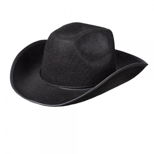 Cowboy Hut schwarz für Erwachsene