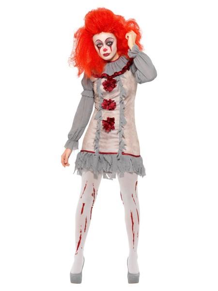Vintage Clown Lady Kleid MEDIUM