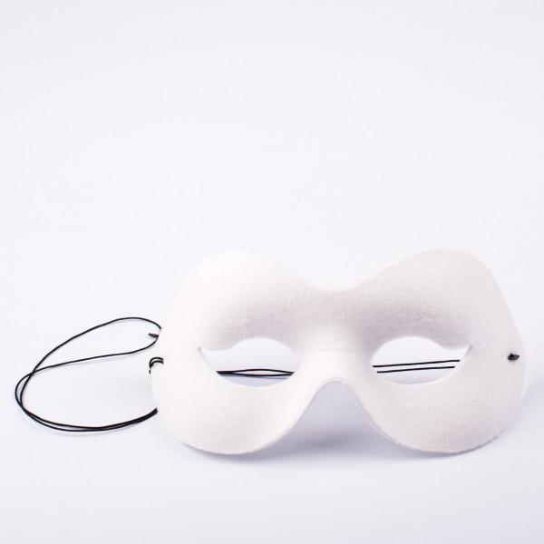 Herrenmaske und Damenmaske weiss