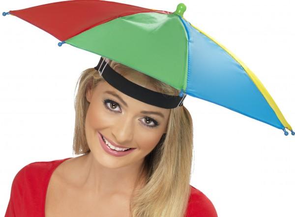 Regenschirm Hut bunt