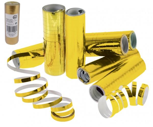 Luftschlangen metallic-gold 4m