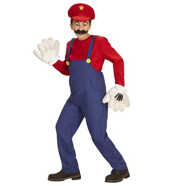 Mario Kostüm für Kinder Größe 140
