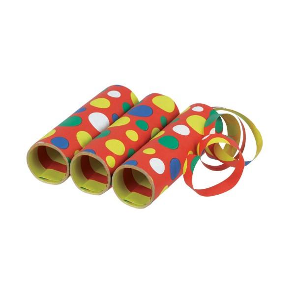 3er Packung Luftschlangen Konfetti Muster