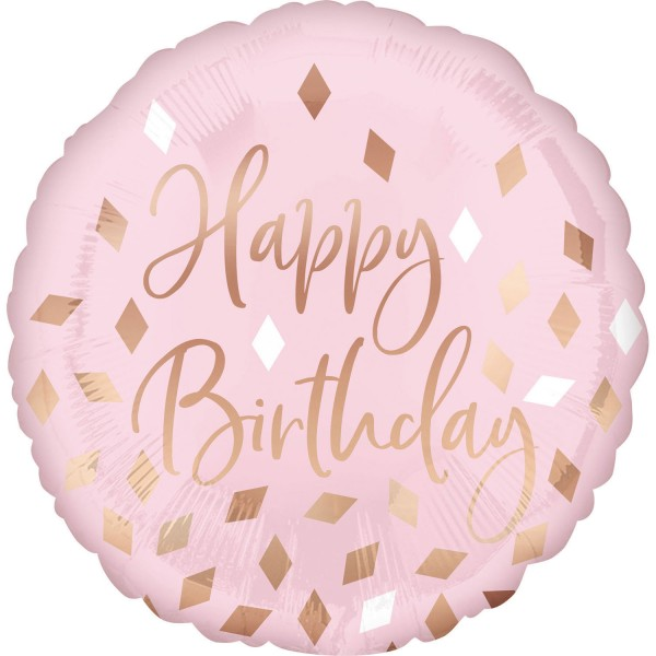 Rosa Happy Birthday Ballon