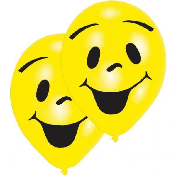 "6 Stück Luftballons ""Sunny Smile"" Motiv"