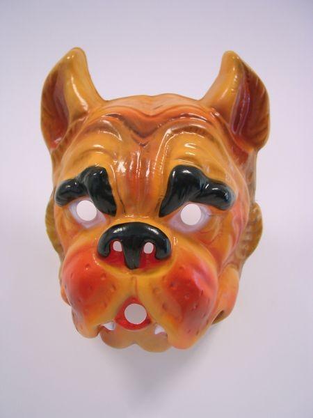 BULLDOGGE/Hund Maske Plastik für Erwachsene