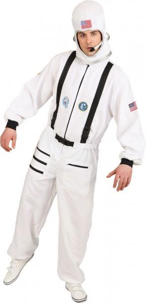 Astronauten Kostüm weißer Overall Größe 54/56