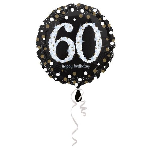 Glitzer Ballon zum 60er
