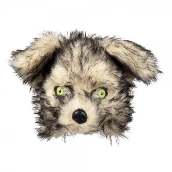 WOLF Maske aus Plüsch Halbmaske