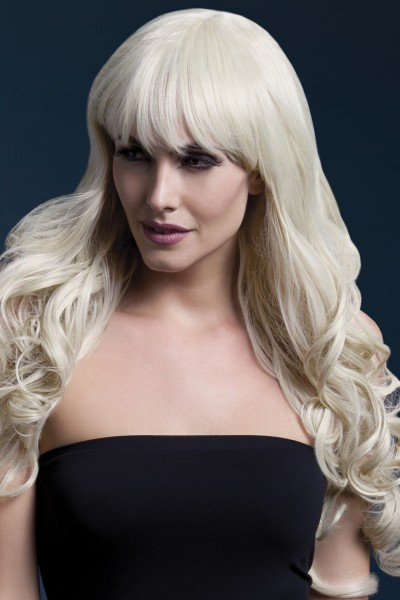 Isabelle langgelockte Perücke blond Premium Qualität