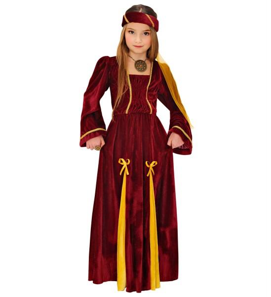 Burgräulein Kleid für Kinder Größe 140