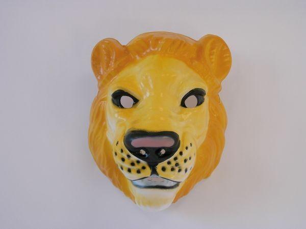 LÖWE Maske Plastik für Erwachsene