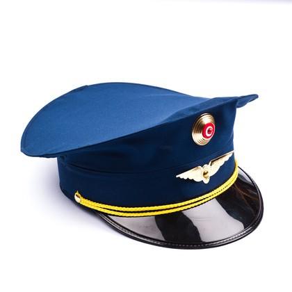 Schaffnermütze blau für Erwachsene