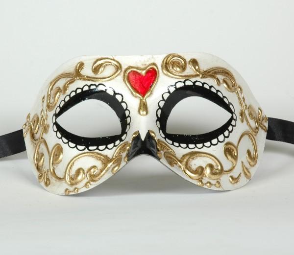 """Venezianische Maske """"Tag der Toten"""" Motiv"""