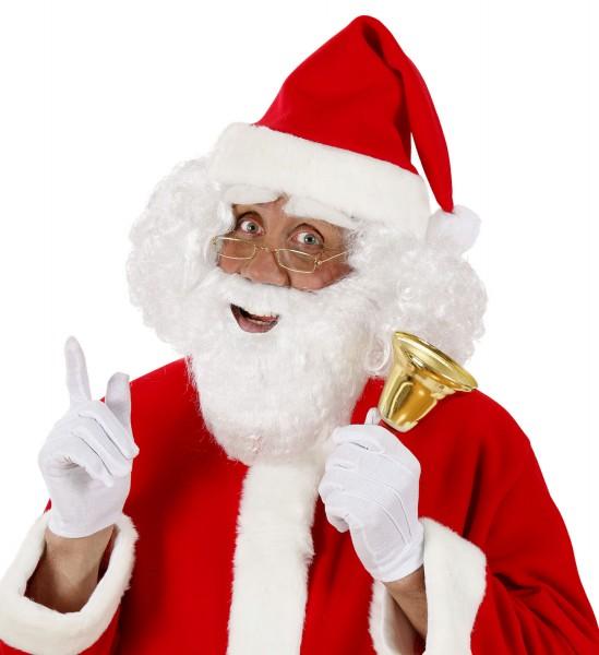 Kleiner Weihnachtsmann Bart weiss