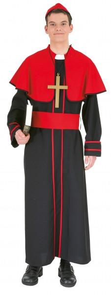 Bischof Kostüm Größe 50/52 rot-schw.