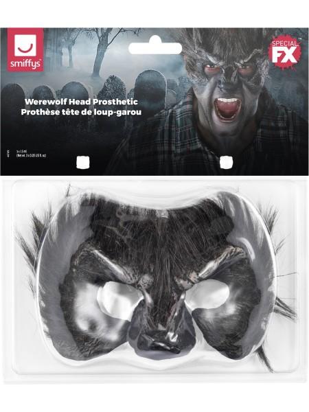 Werwolf Latexteil Stirn mit Haare und Nase