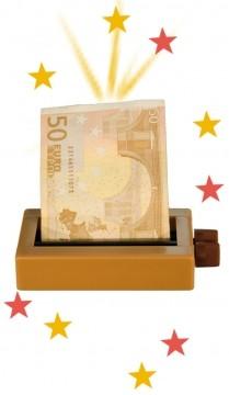 Zaubertrick Geld-Drucker
