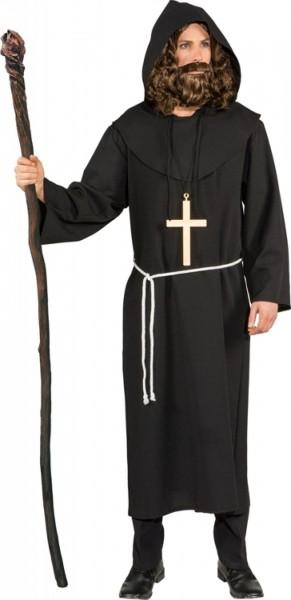 Mönch Kostüm Größe 56 schwarz