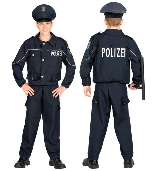 Polizei Kostüm für Kinder Größe 140